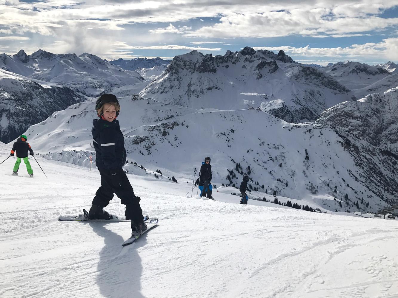 Bästa skidorten med barn i alperna