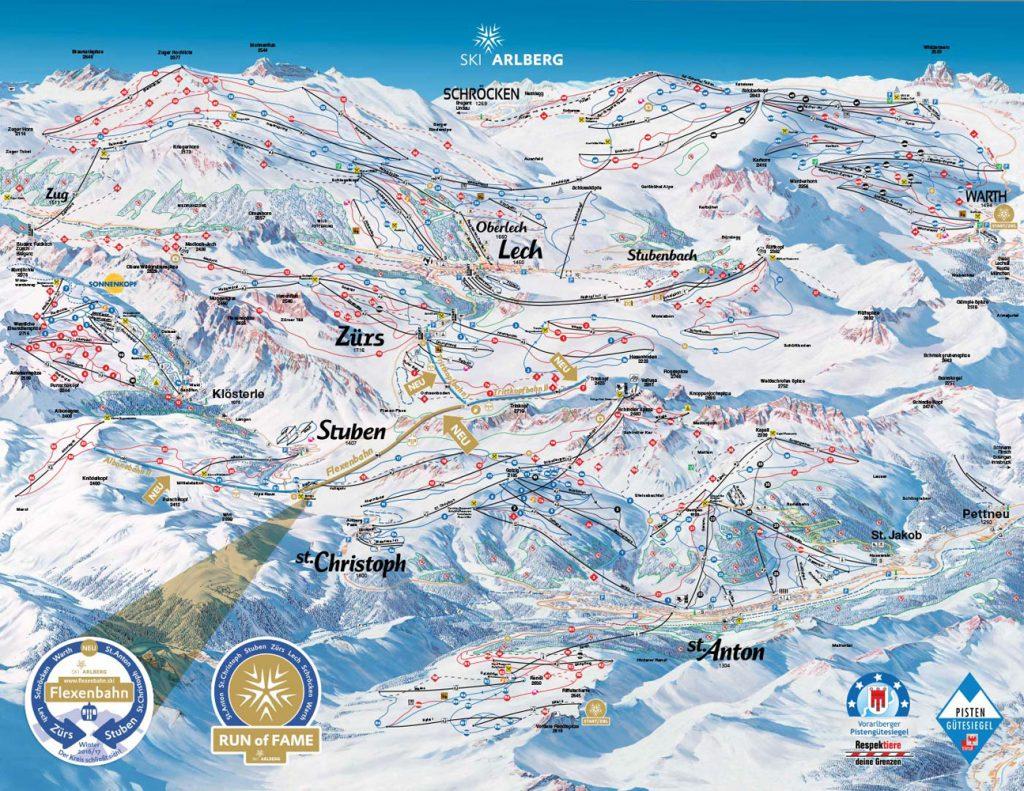 Alberg ski map
