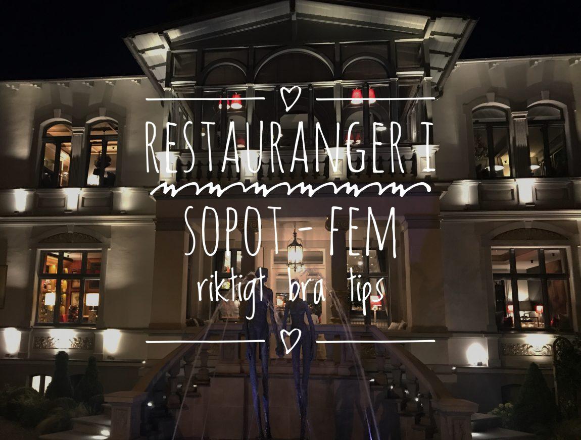 Restauranger i Sopot