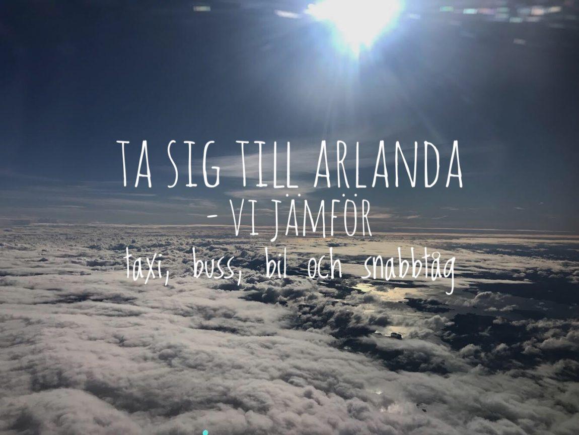 Ta sig till Arlanda