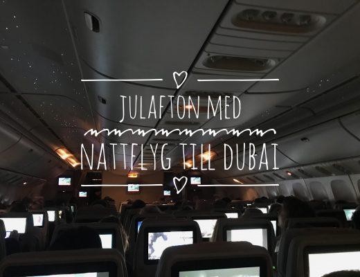 Nattflyg till Dubai med Emirates