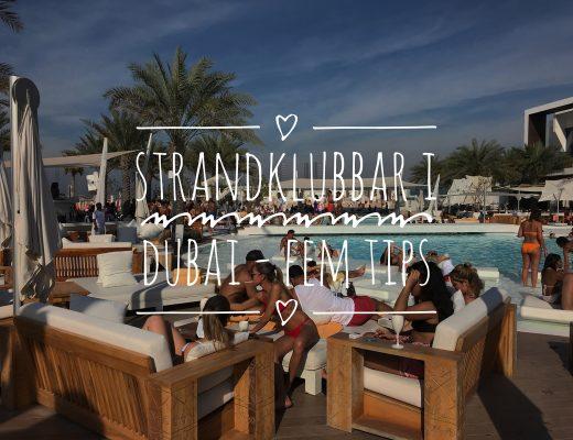 Strandklubbar i Dubai