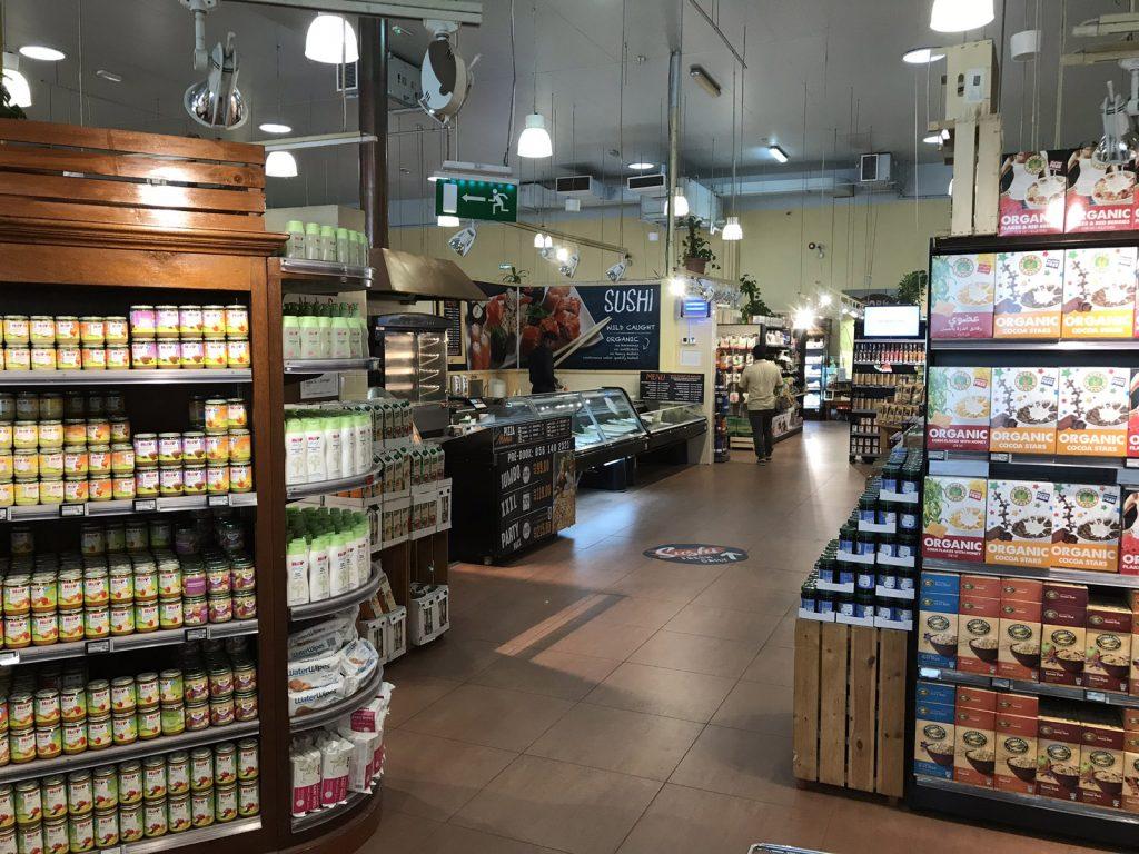 Ekologisk mataffär i Dubai