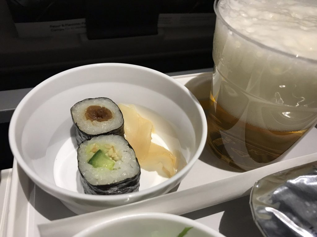 Mat och dryck på Lufthansa till Tokyo