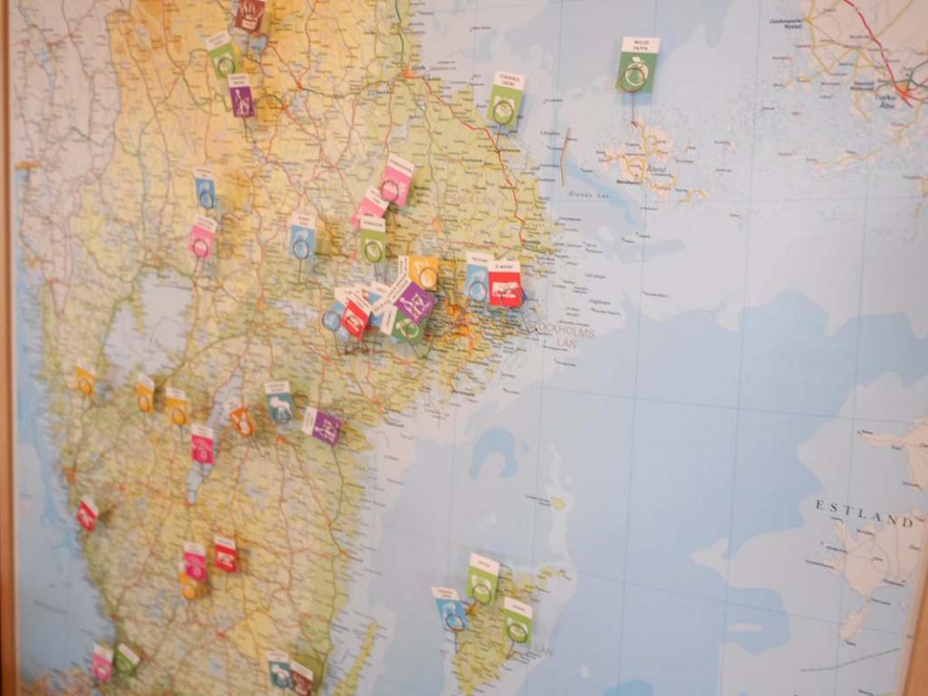 Karta som visar var leverantörerna av råvaror kommer ifrån.