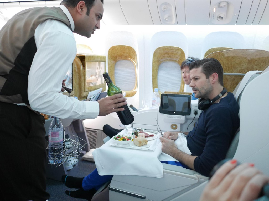 Business class med Emirates