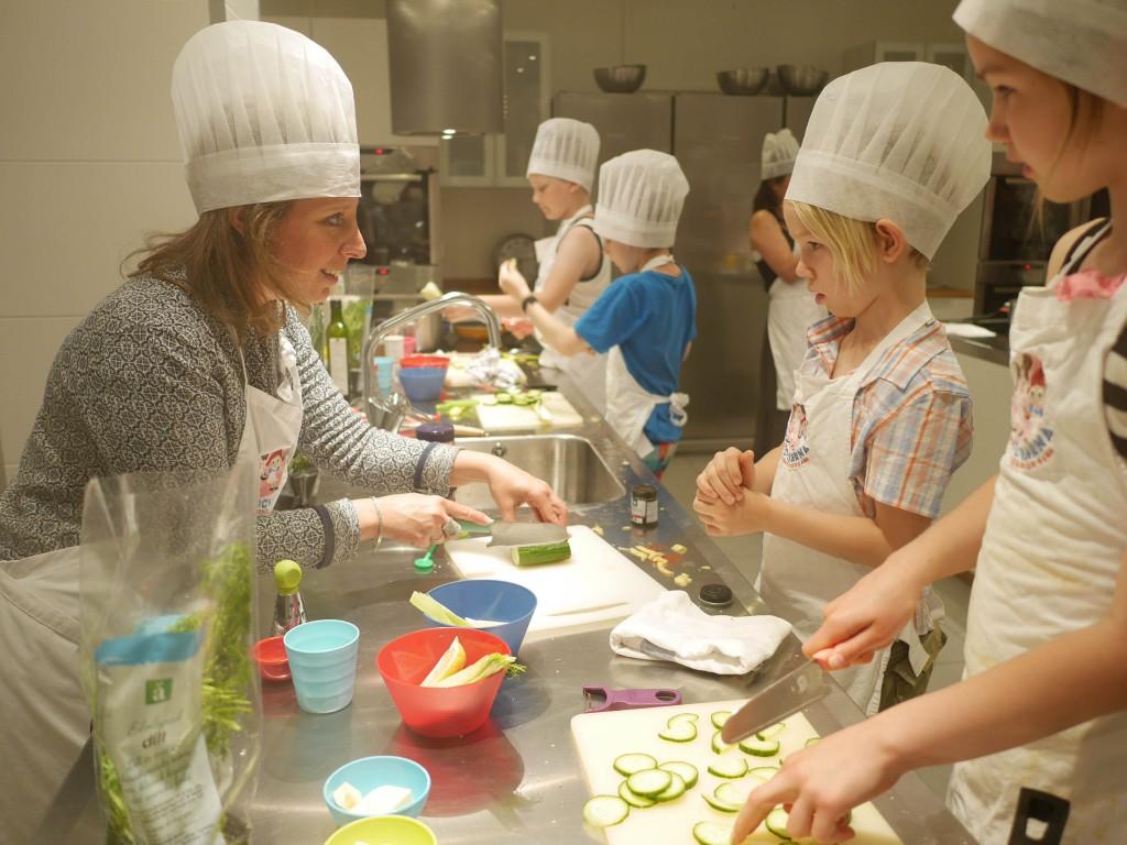 Matlagningskurs för barnen hos Småkockarna på Lidingö