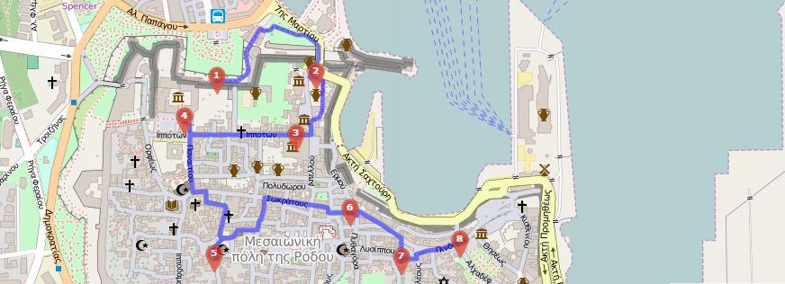 rhodos gamla stan karta Resa till Rhodos   research och planering   Matochresebloggen rhodos gamla stan karta