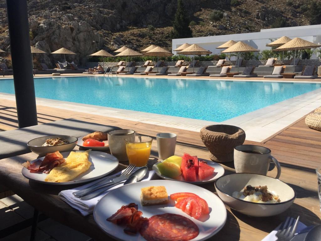 Frukost på Casa Cook Rhodos