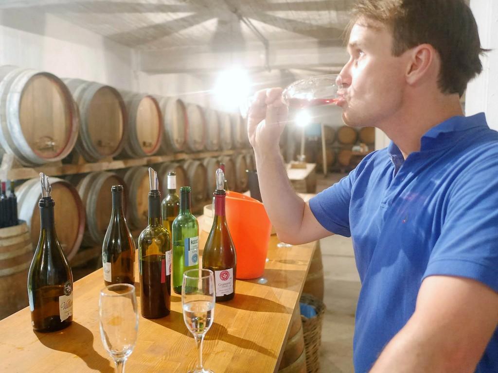 Vinprovning Rhodos hos emery winery