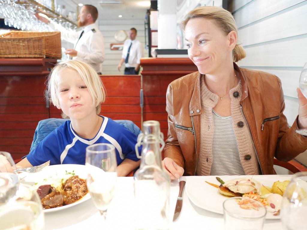 Skördefestmeny på Eckerölinjen