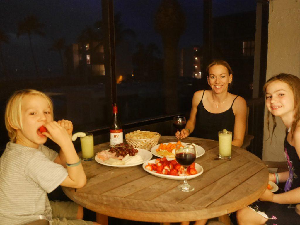 Middag på balkongen