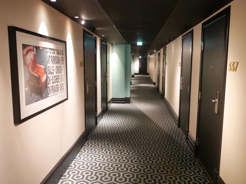 Haymarket Hotell korridor