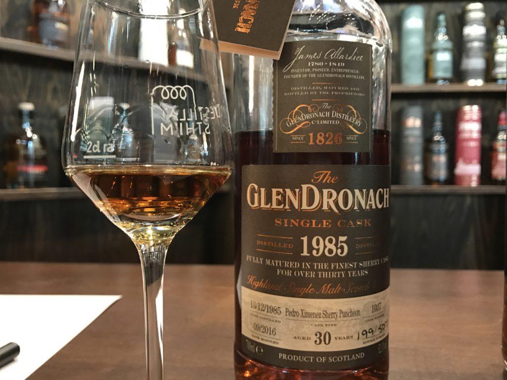 Glen Dronach 1985 på Destillat Stockholm