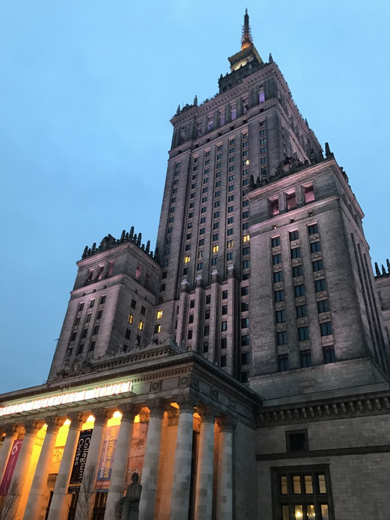 Sightseeing i Warszawa Palace of Culture and Science