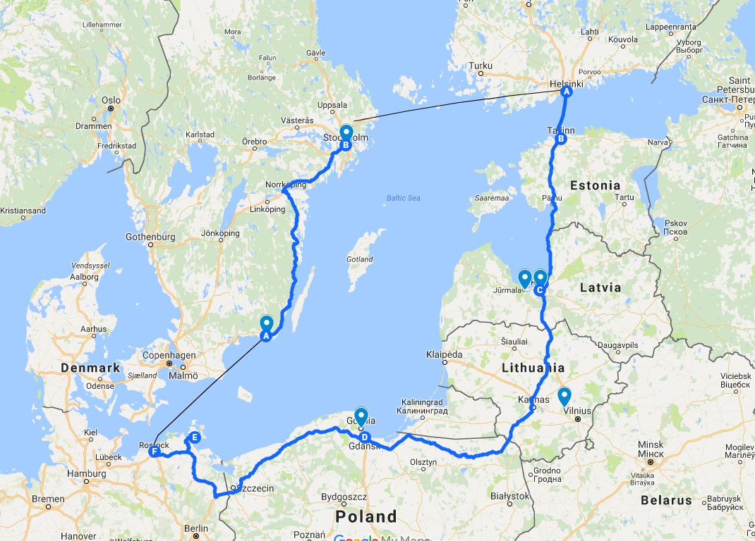 karta östersjön Roadtrip runt Östersjön   Matochresebloggen karta östersjön