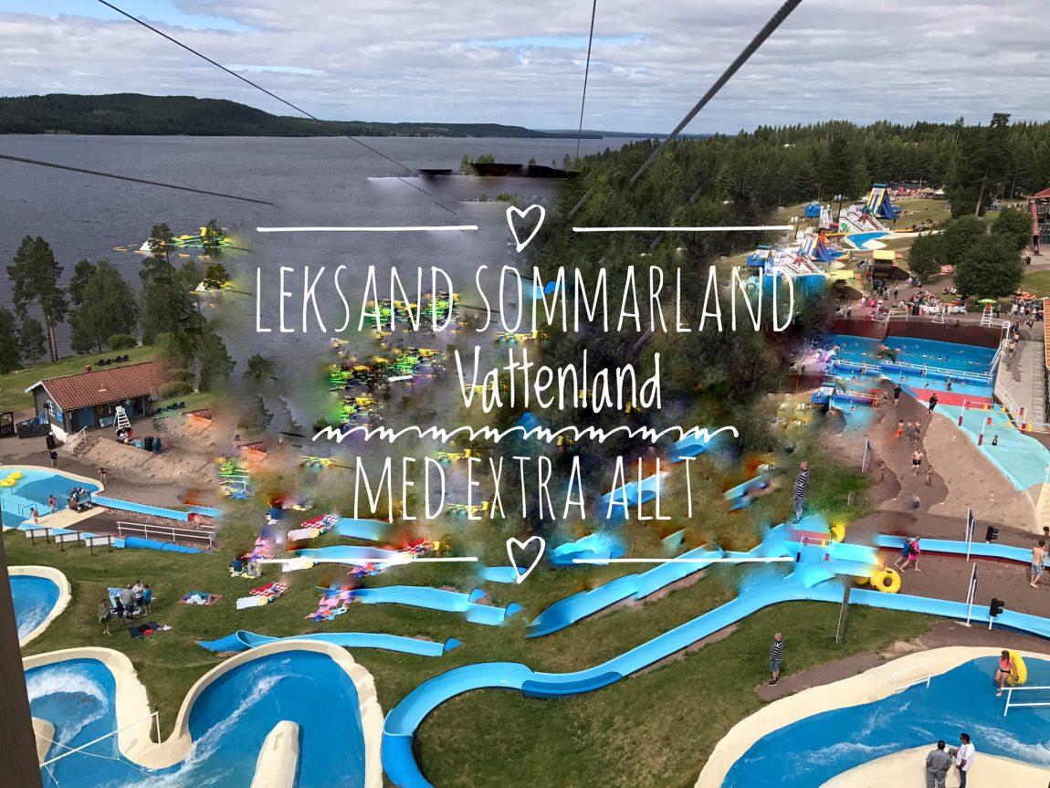 Leksand Sommarland Vi Testar Nya Wipeout Siljan äventyrsbana På Sjön