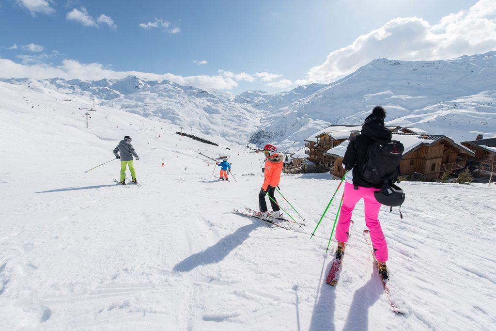 Skidåkning i Franska Alperna Menuires