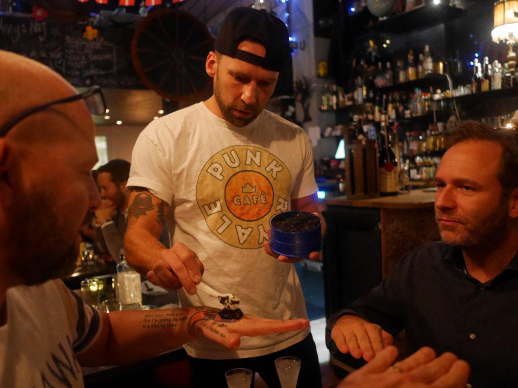 Avsmakningsmeny på Punk Royale Cafe