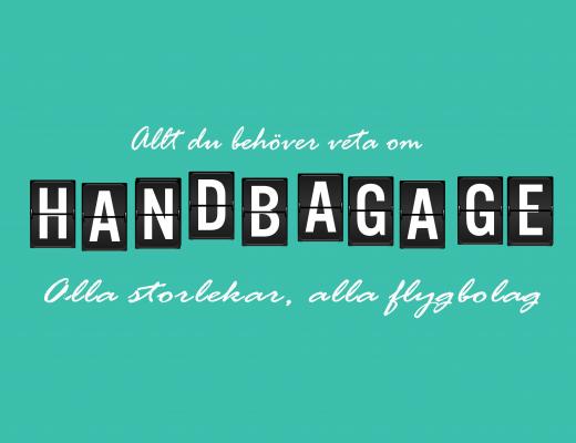 Handbagage - mått och vikt för handbagage