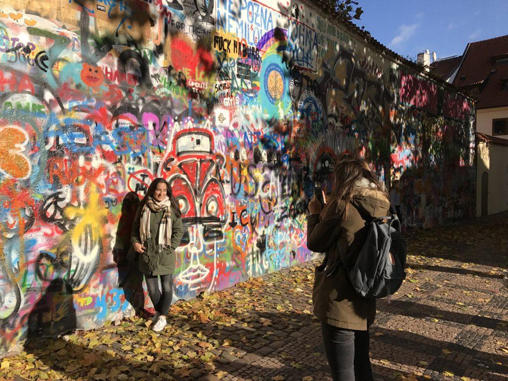 Sightseeing i Prag - John Lennon Wall