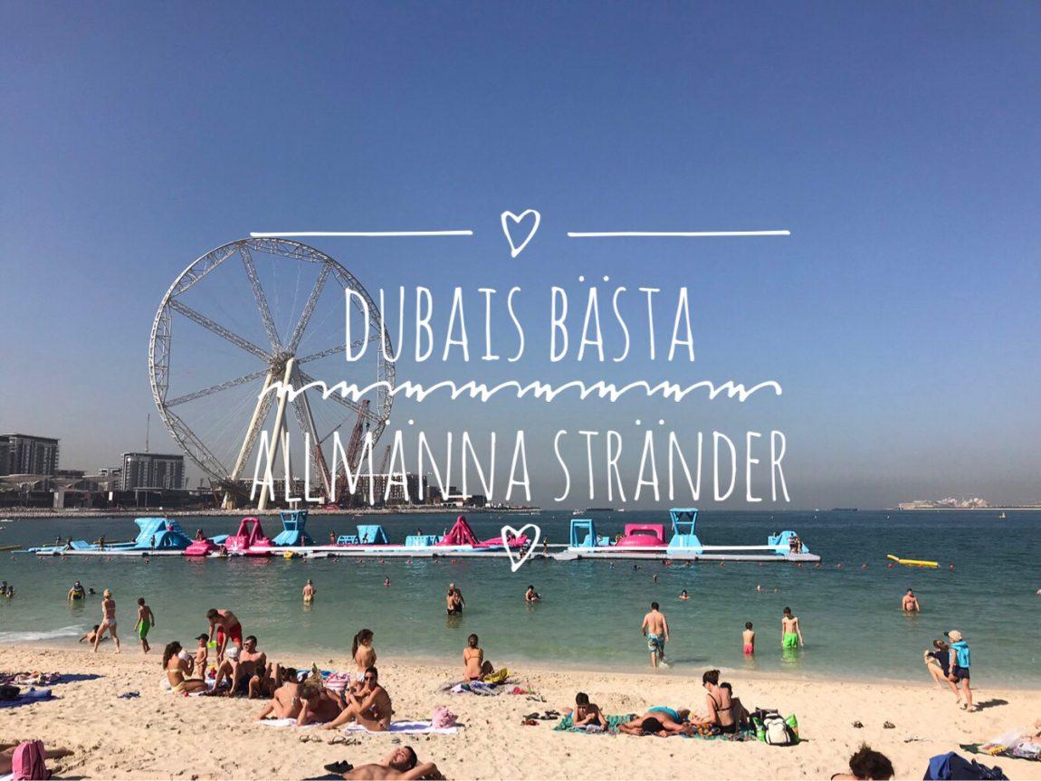 Dubais bästa allmänna stränder