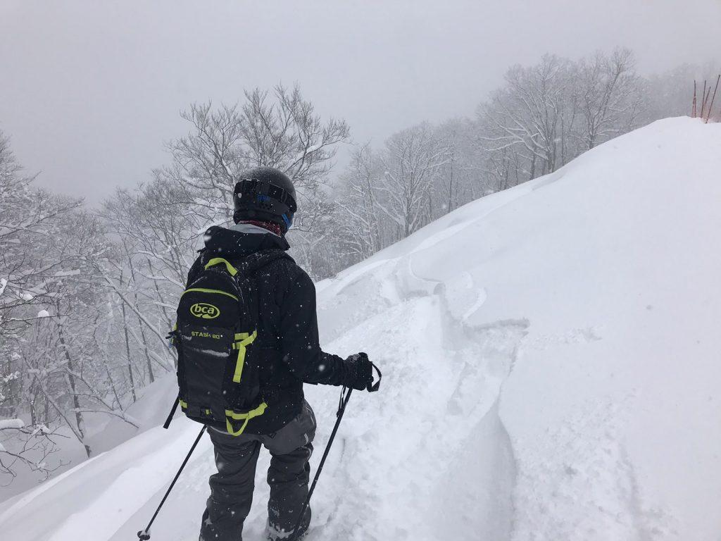 Skidåkning i Japan - off pist i Iwatake