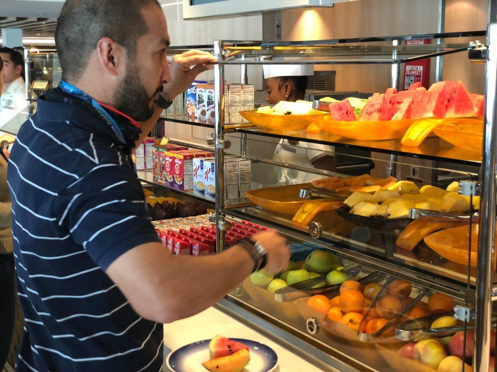 Frukosten på Norwegian Bliss