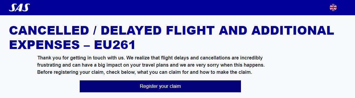 Fa betalt for forsenat flyg