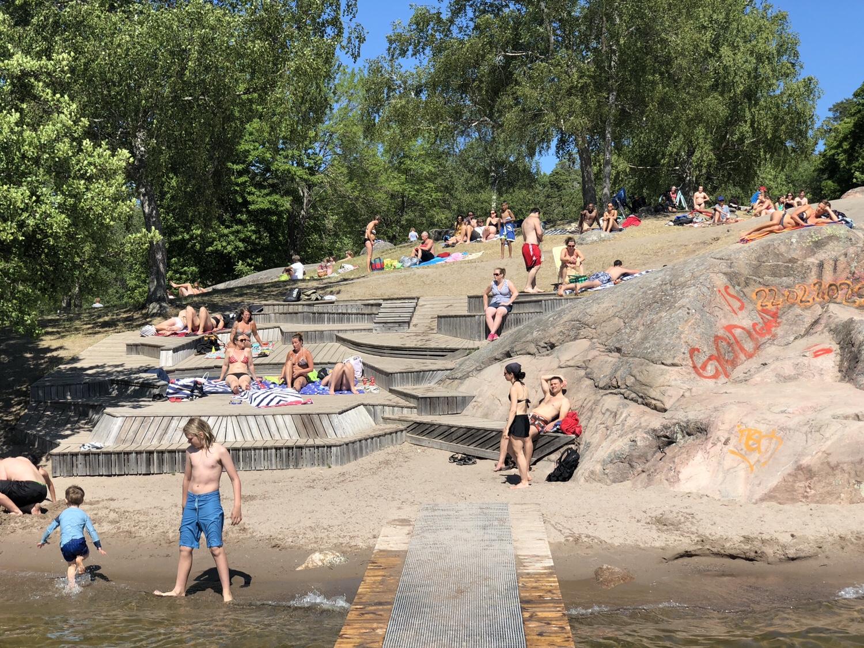 Kaananbadet - stor badplats med hopptorn