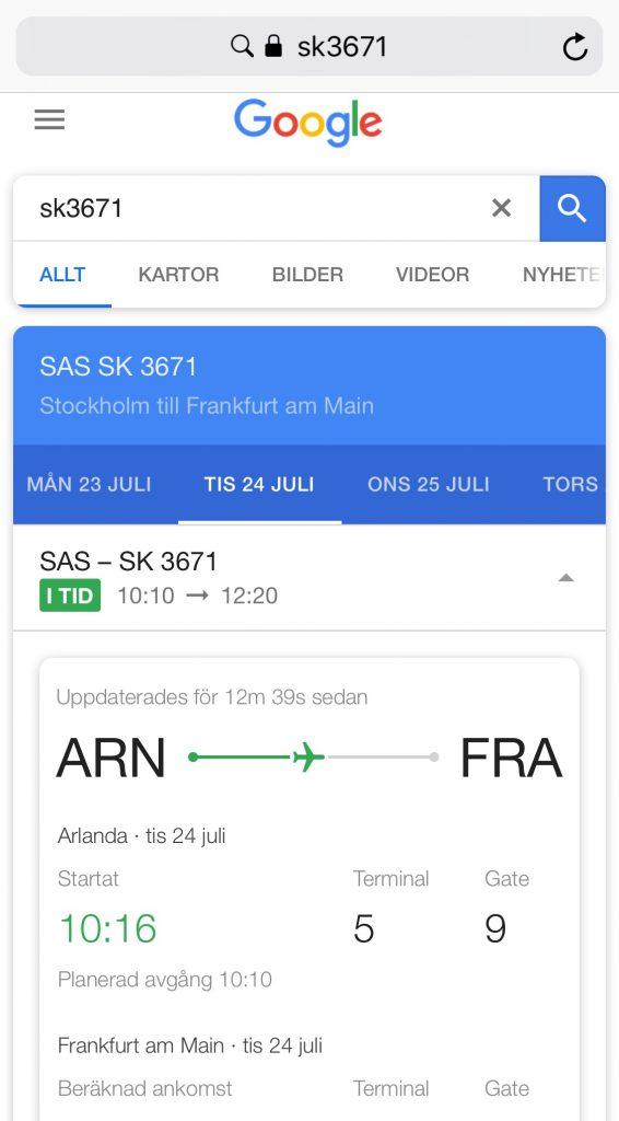 Hitta rätt gate och terminal på flygplatsen
