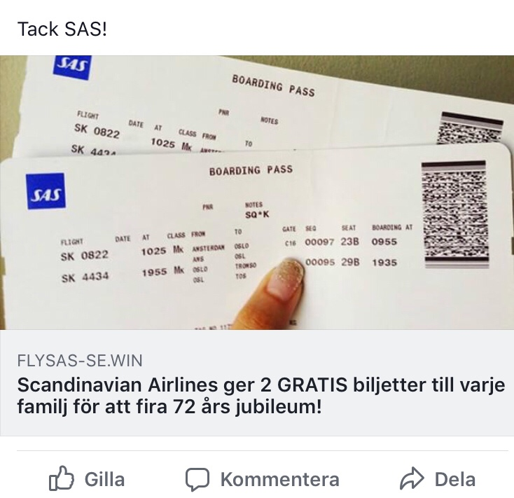 fejkad SAS-kampanj