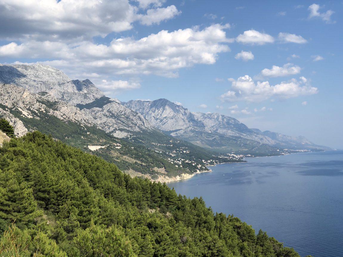 Kustvägen från Dubrovnik till Split