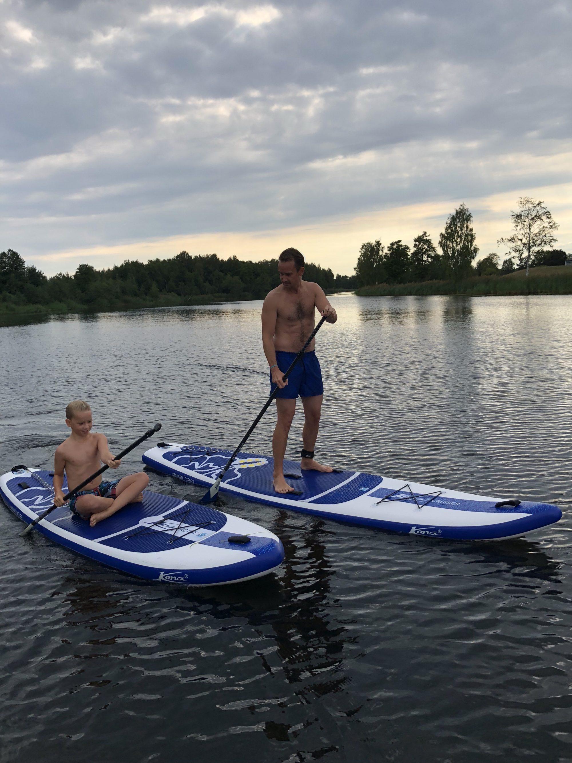 Stand up paddling på Klarälven