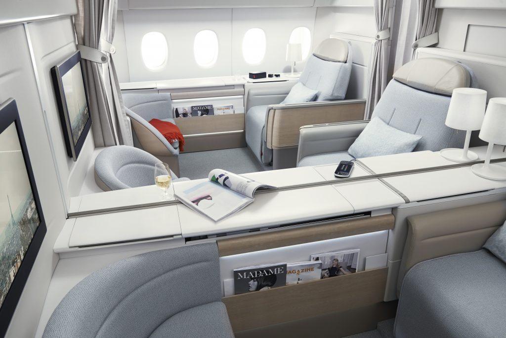 Förstaklass med Air France