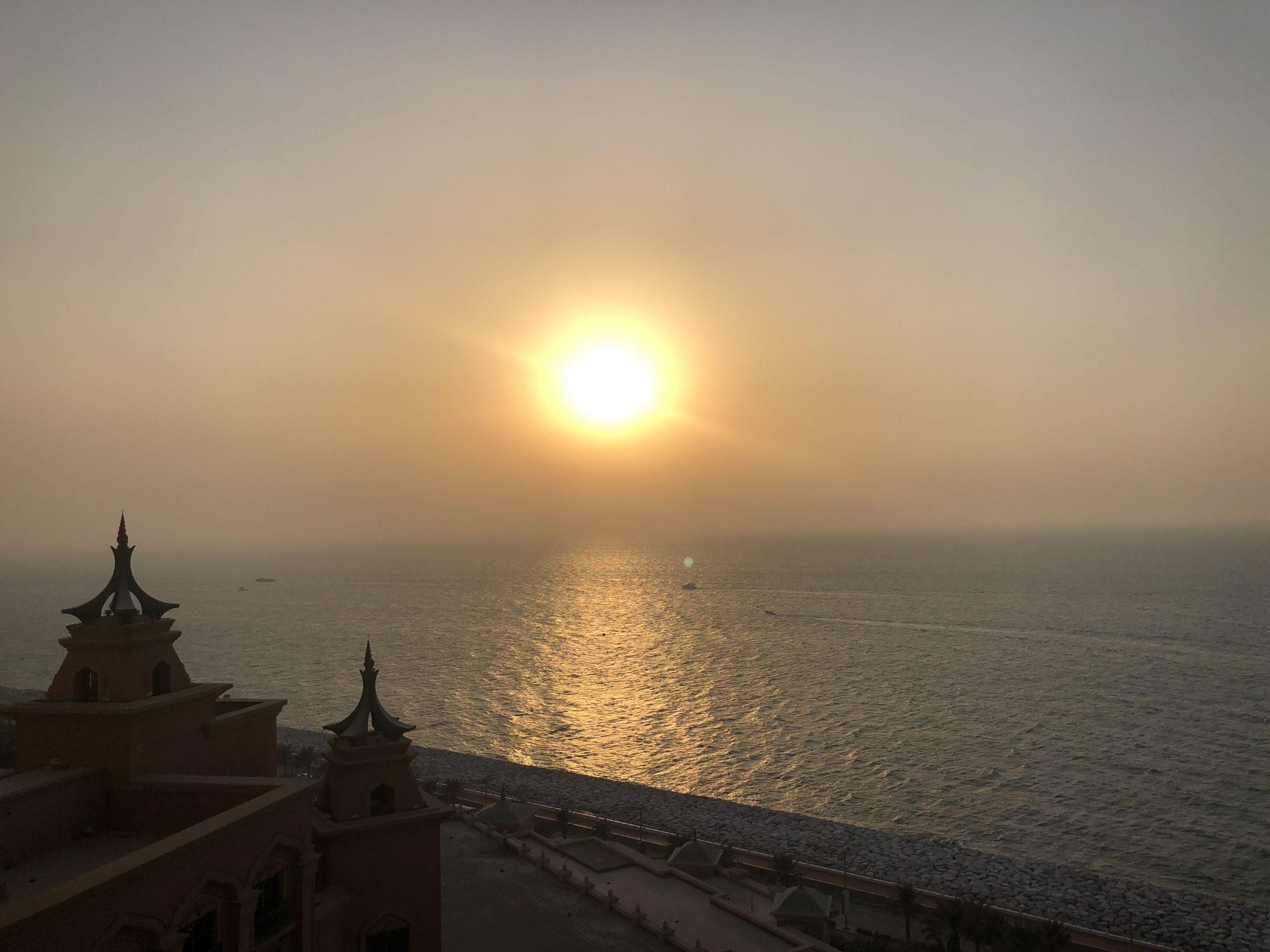 Atlantis the Palm i Dubai Solnedgång