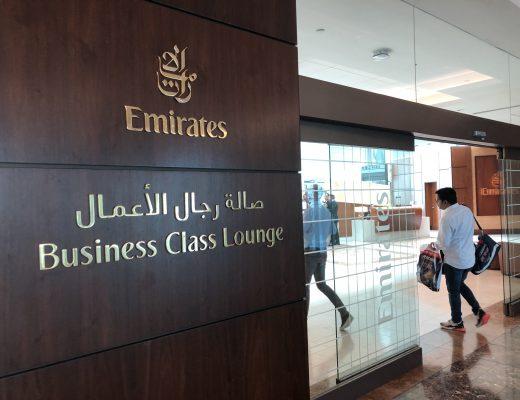Emirates business class-lounge Dubai