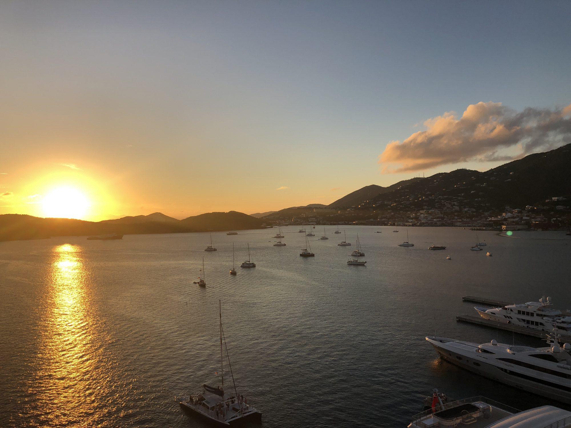 Solnedgång på St Thomas