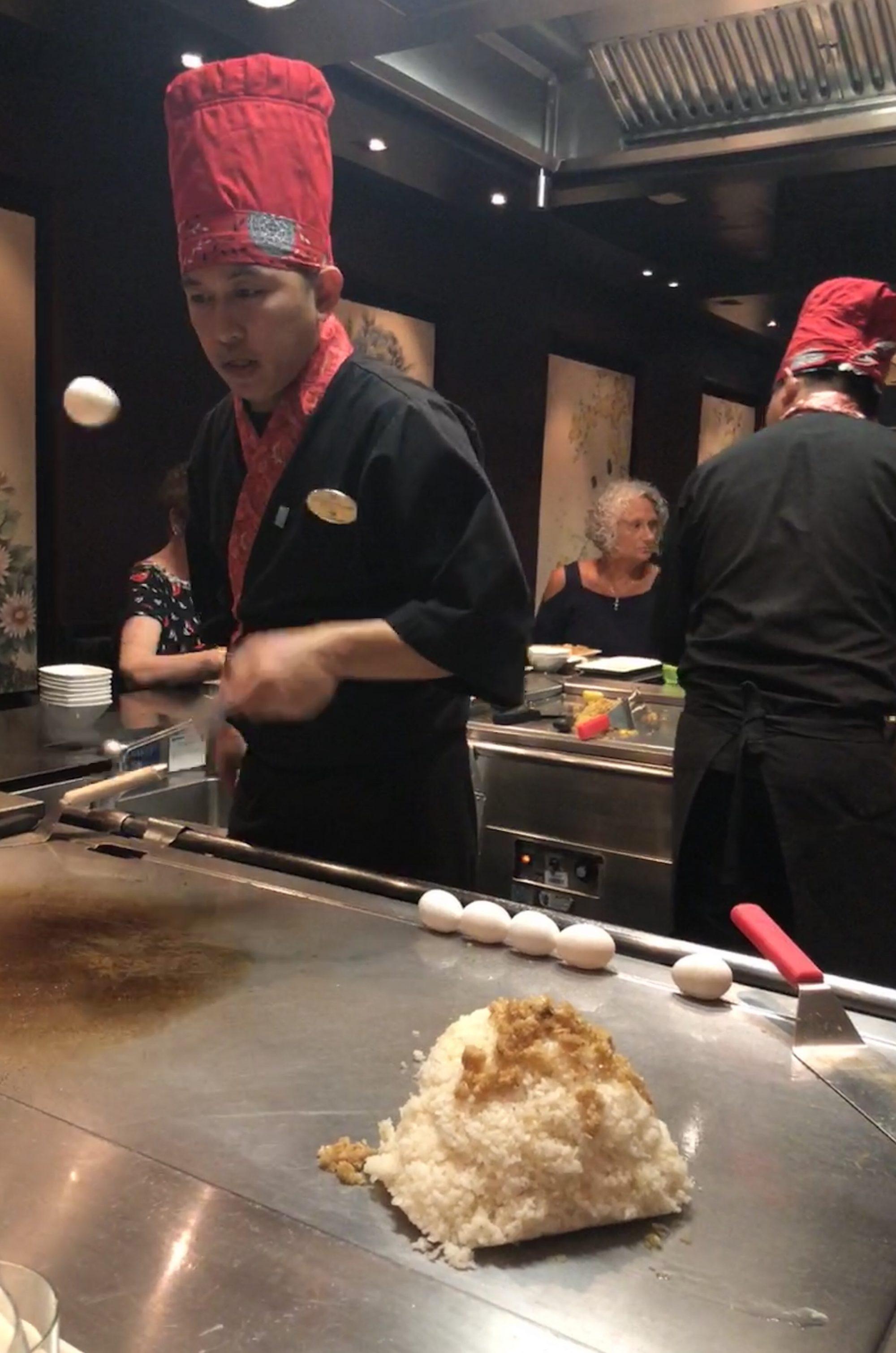 Teppanyaki på Norwegian Getaway