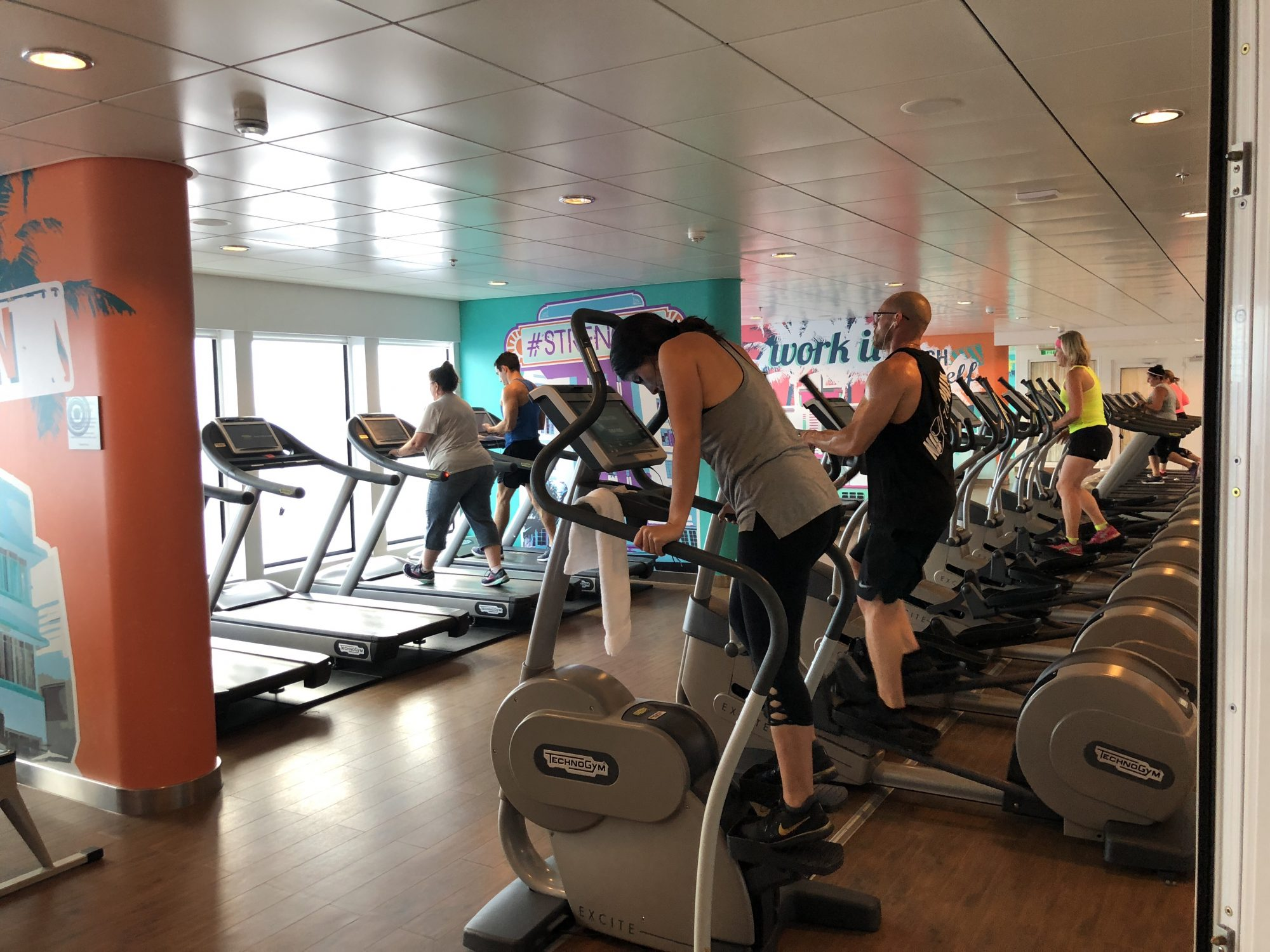 Spa och gym på Norwegian Getaway