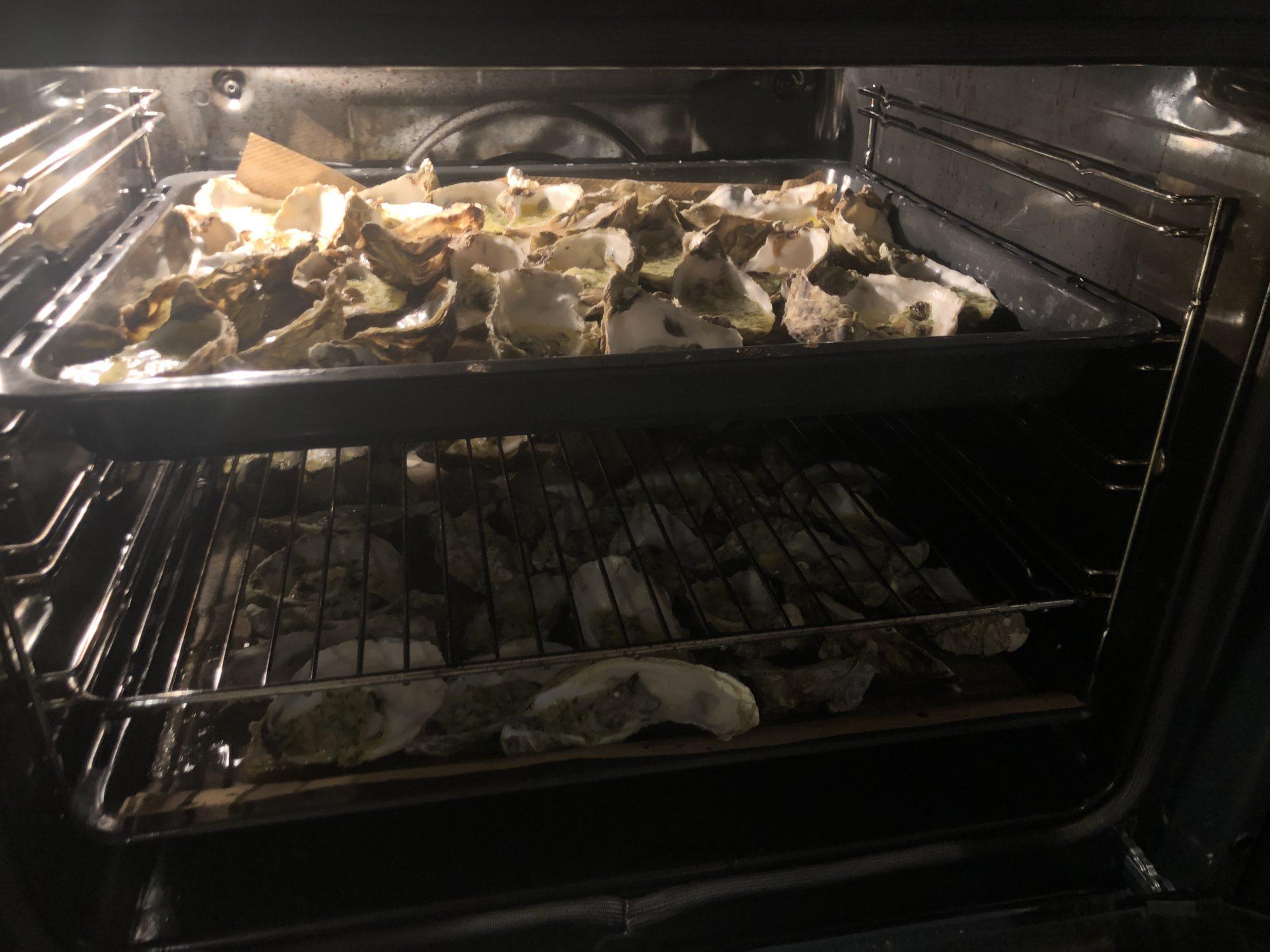 Förrätt - Gratinerade ostron