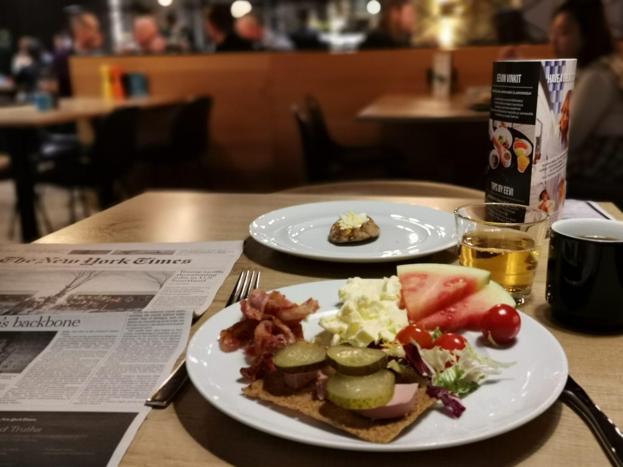 Frukosten på Clarion Helsinki Airport
