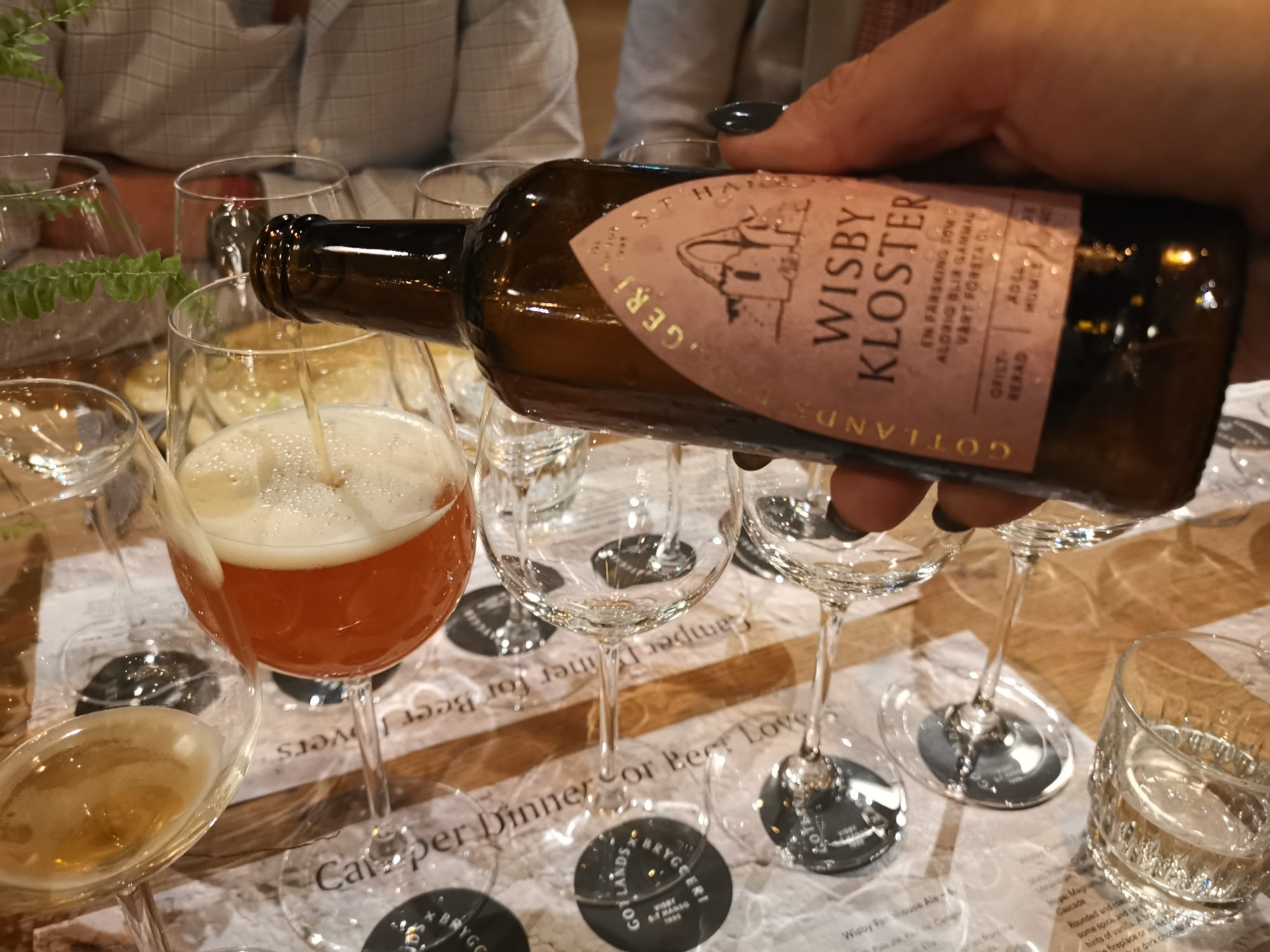 Avsmakningsmeny med matchande öl