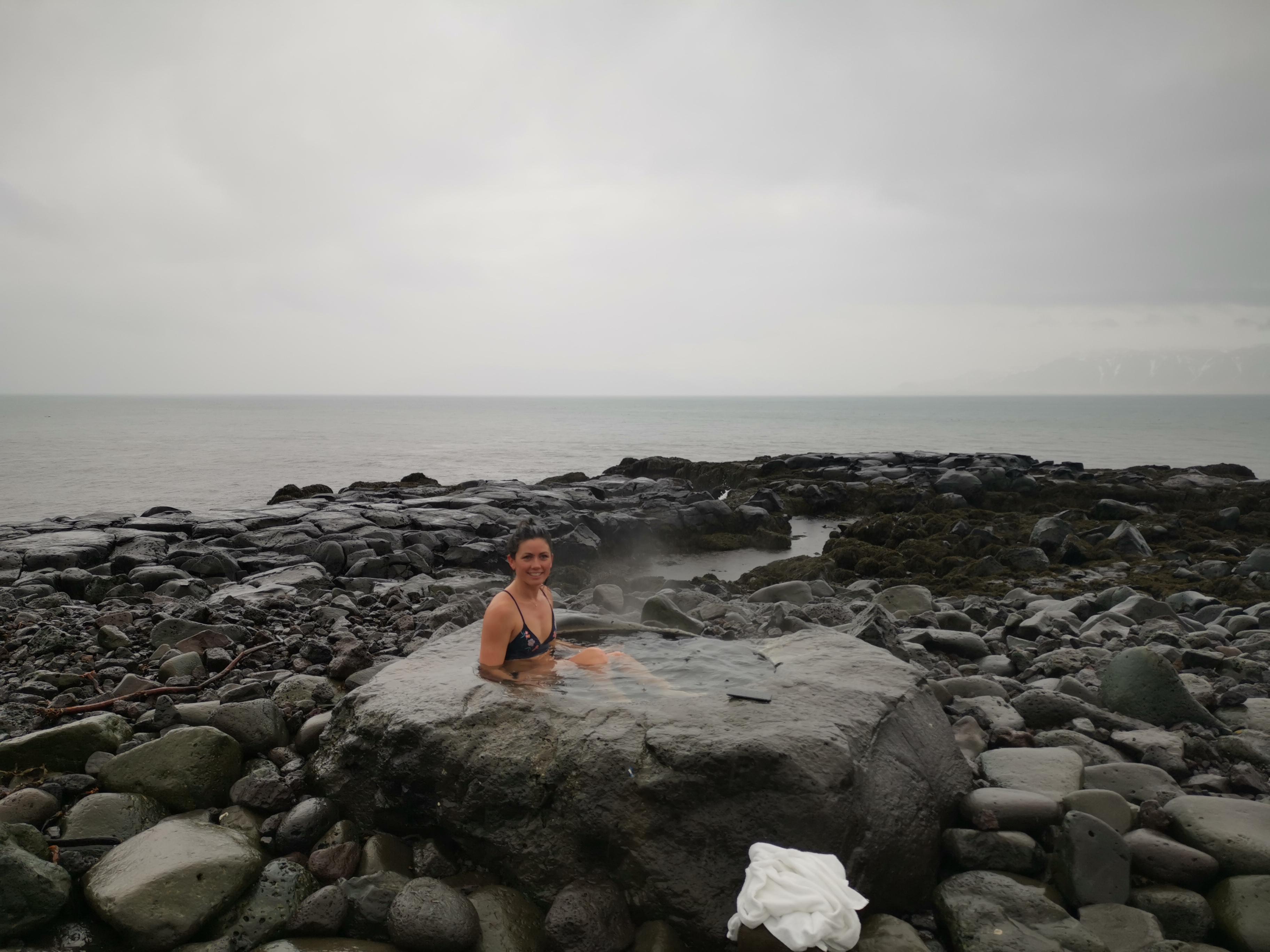 Norrsken på Island grotto