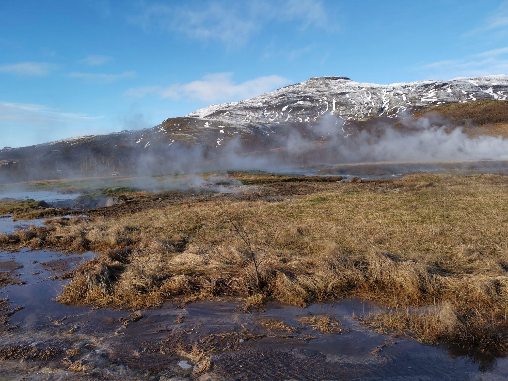 Golden Circle på Island Gejsrar vid Haukadalur