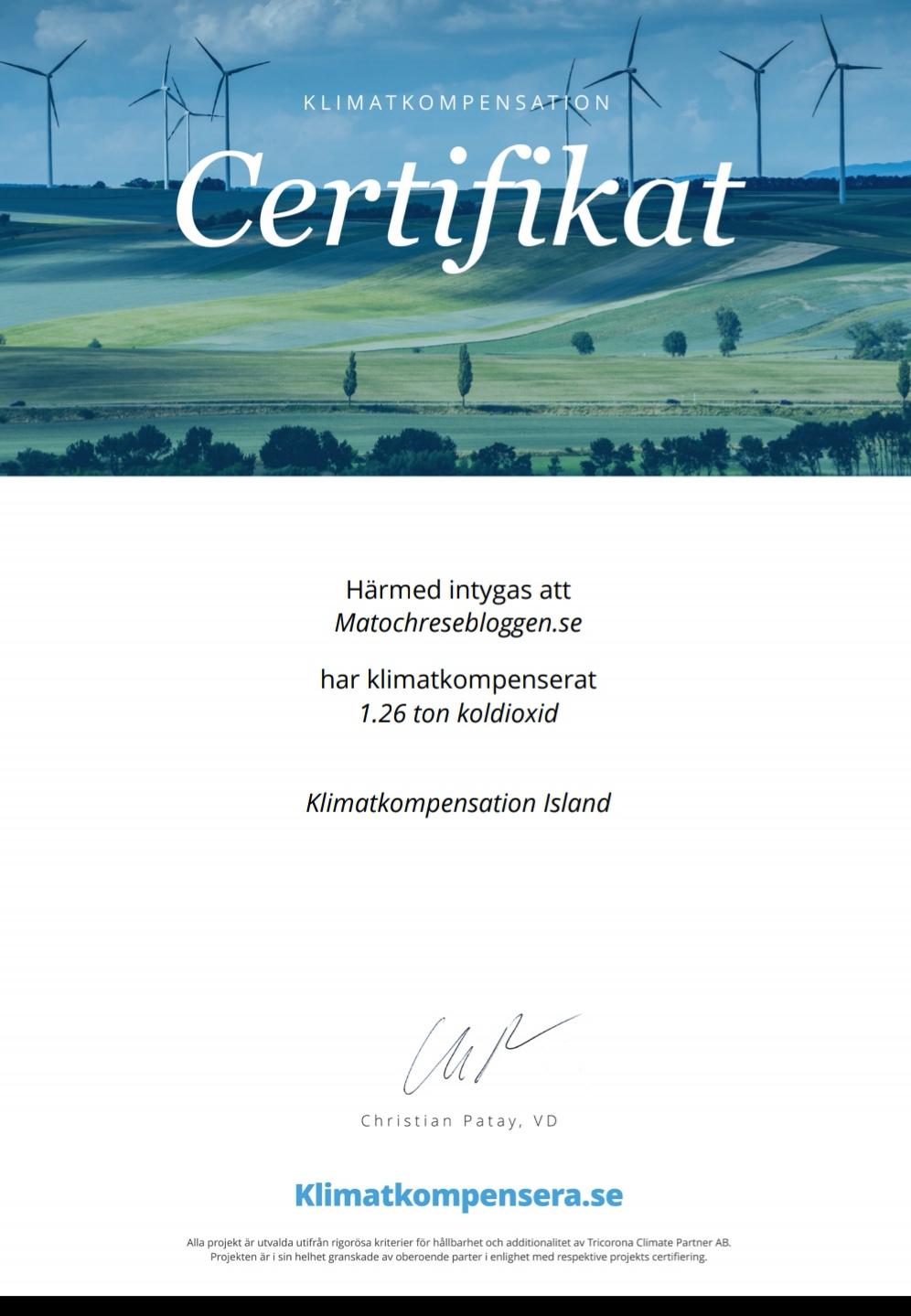 Klimatkompensation av flyg till Island