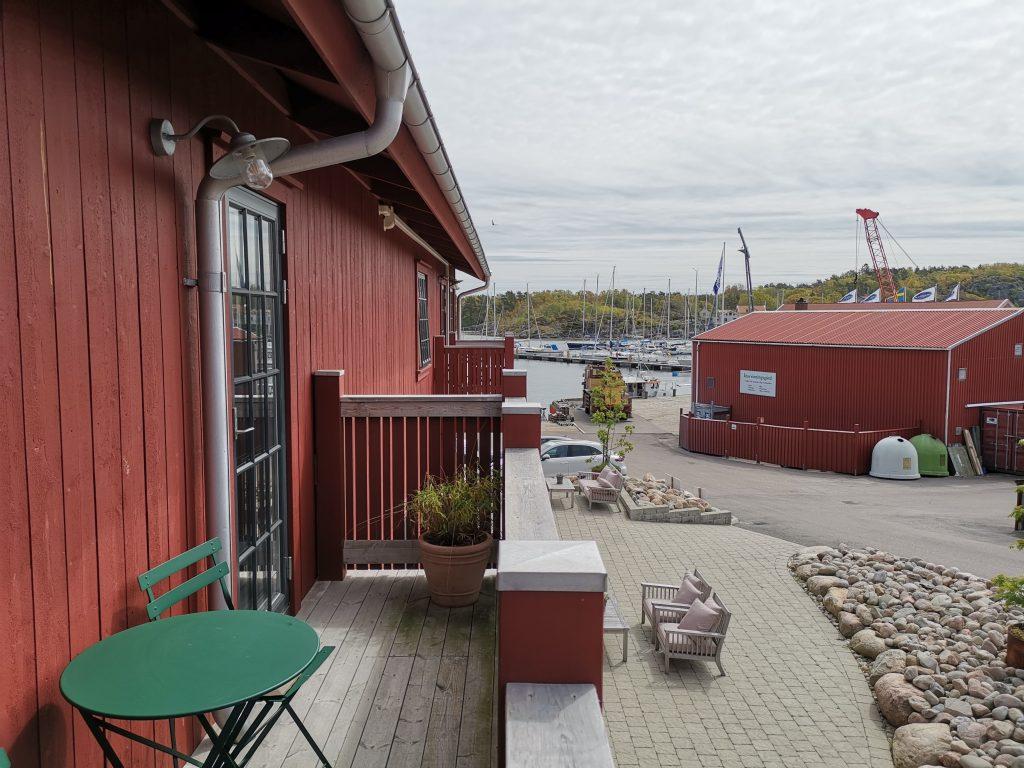 Hotell i Fiskebäckskil - Slipens Hotell - balkong