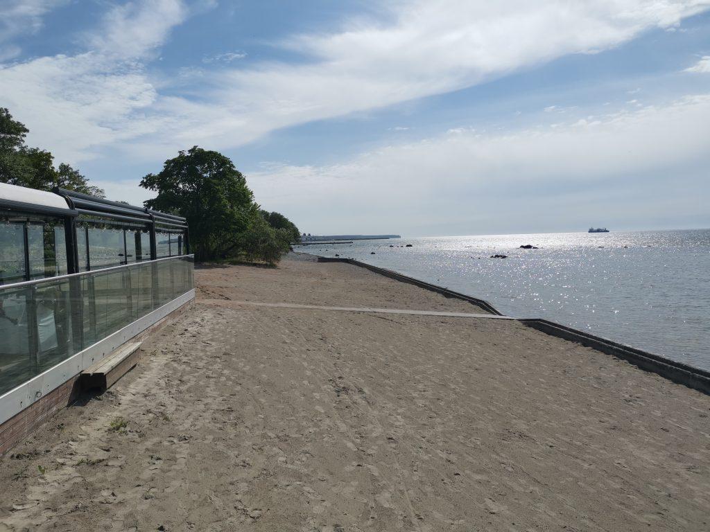 Stranden vid Novi Resort