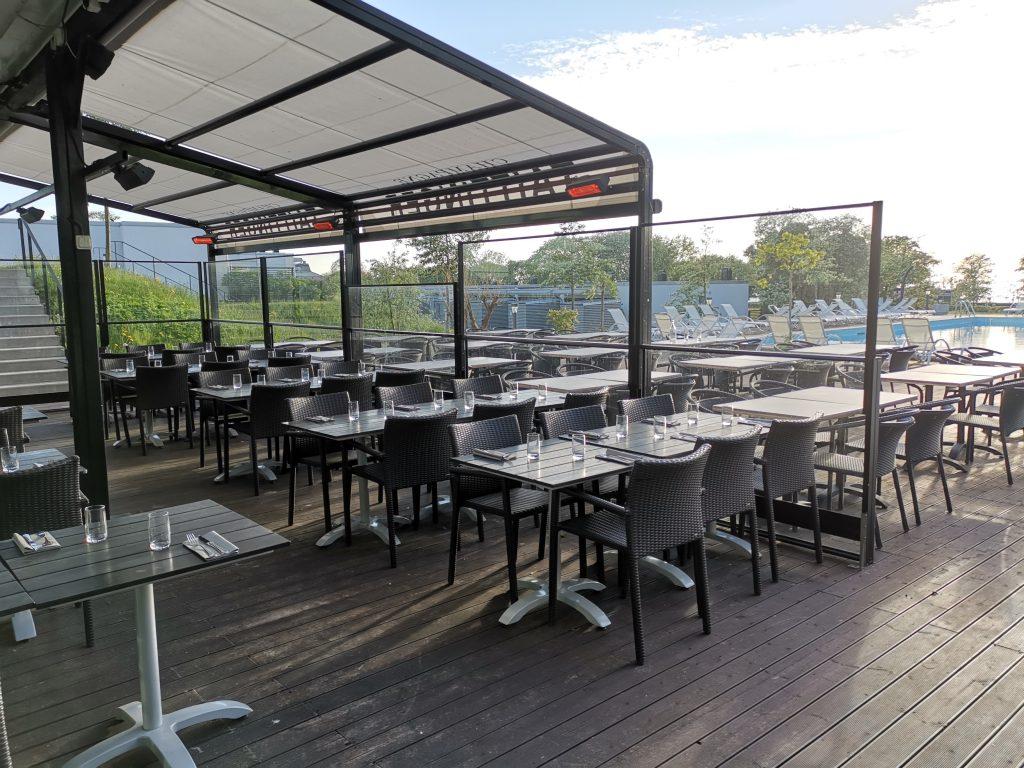 Restauranger på Novi Resort - uteserveringen