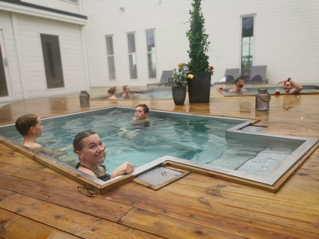 Utomhusbad i Spa:et på Hotell Havsbaden